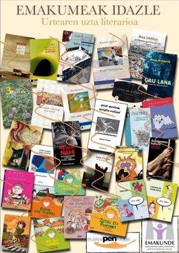 Cartel De Emakunde Para Conmemorar El Día Del Libro.