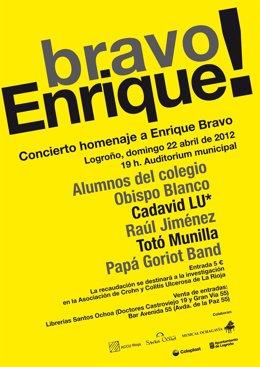 Cartel Concierto, Enrique Bravo