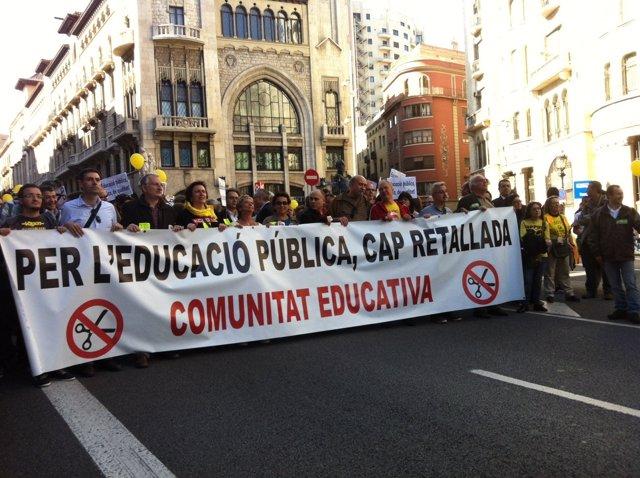 Manifestación Contra Los Recortes En Educación