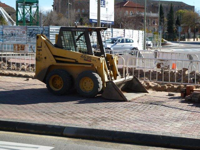 Excavadora en una construccion