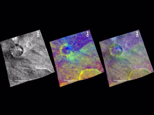 Imágenes De La Superficie De Vesta