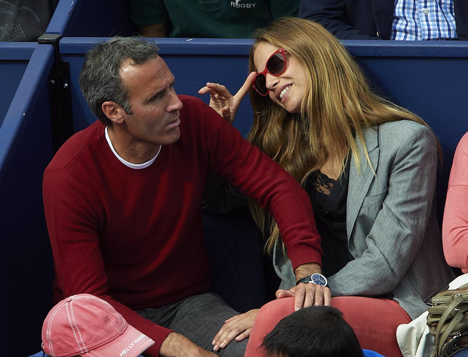 Martina Klein Y Alex Corretja En El Tenis