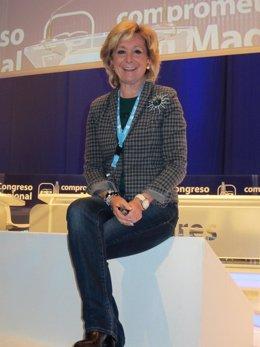 Esperanza Aguirre En El XV Congreso PP Regional