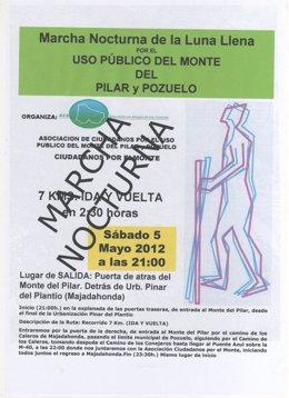 Cartel De La Marcha Nocturna