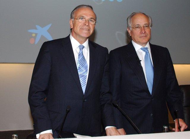 Isidre Fainé  Y Juan María Nin