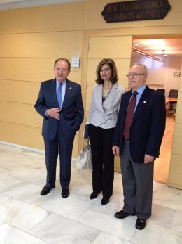 El Director Del CNI, Félix Sanz, Con Ana Botella