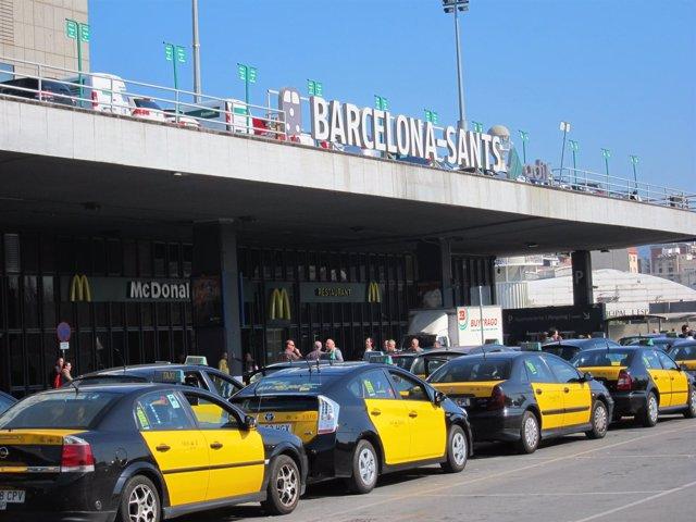 Estación Sants Taxis Renfe Adif