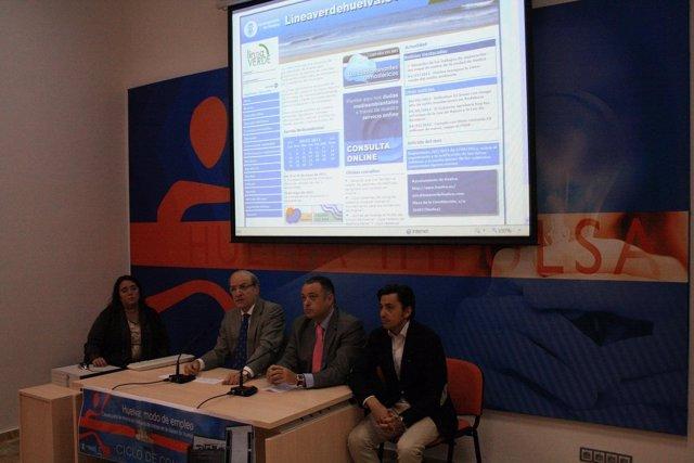 El Alcalde De Huelva, Pedro Rodríguez, Presenta El Programa De La Línea Verde.