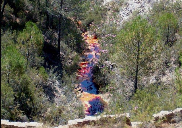 Zona Del Río Tinto En La Provincia De Huelva, Donde Se Ha Hecho El Estudio.
