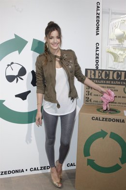 MADRID, SPAIN - MAY 04:  Model Malena Costa Attends Calzedonia Recycled Campaign