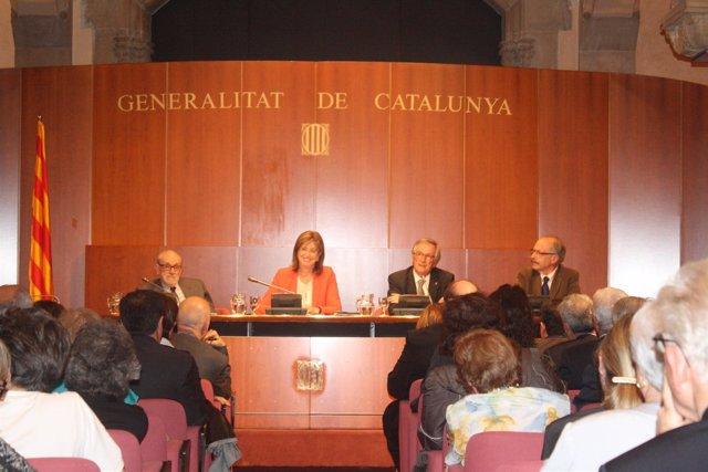 80 Aniversario Del Institut Escola Con Irene Rigau Y Xavier Trias
