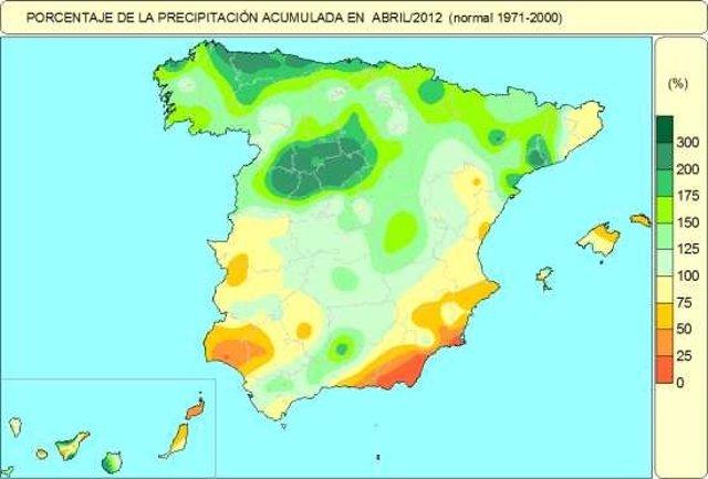 Mapa Precipitaciones Madrid