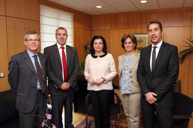 Marc-Antoine Lucchini,  Sanofi Iberia; Carmen Peña, Farmaceuticos