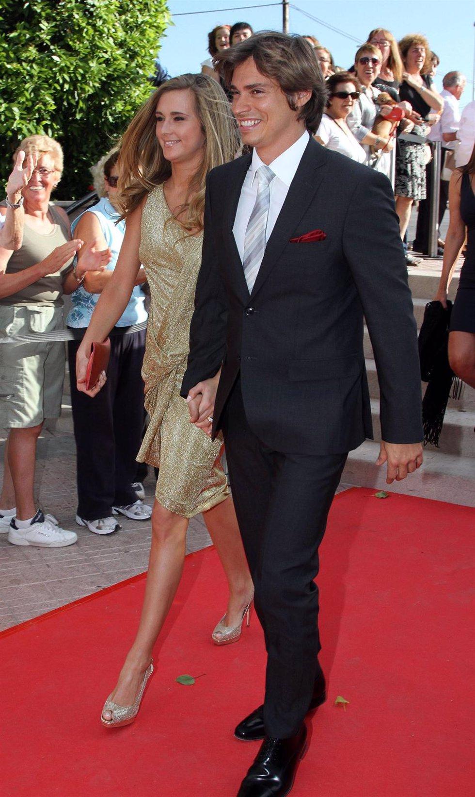 Carlos Baute y su novia Astrid Klisans