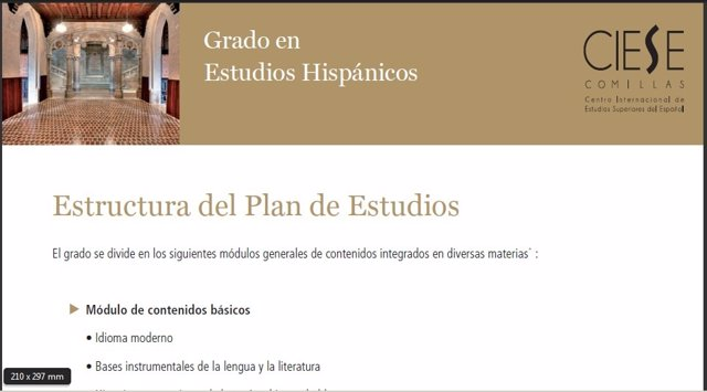 Grado Estudios Hispánicos F.Comillas