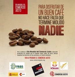 Cartel Del Día Mundial Del Comercio Justo En Cáceres