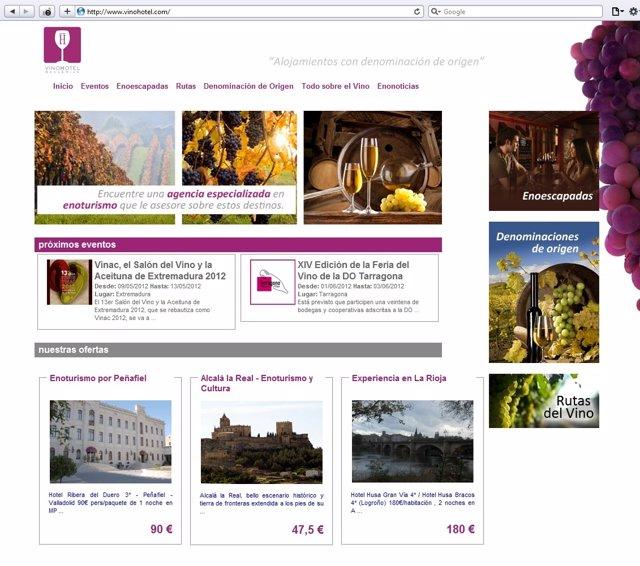 Web de vinohotel.Com