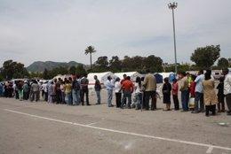 Acampados En Lorca Tras El Terremoto