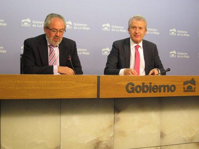 El Consejero De Salud, José Ignacio Nieto, Y El Portavoz, Emilio Del Río