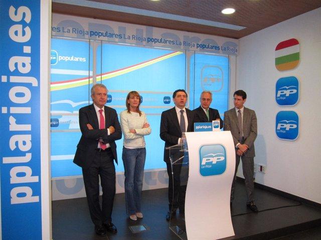 Cuevas Con Los Vicesecretarios Del PP
