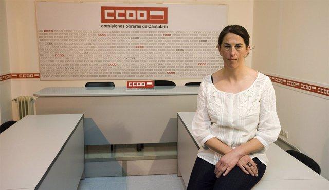 María José Barrio, Delegada De CC OO En Campoo