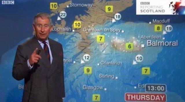 Carlos de Inglaterra en la BBC