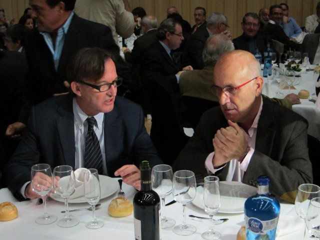 Josep Maria Vila d'Abadal Junto A Josep Antoni Duran