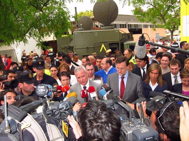 Rajoy Y Valcárcel En Lorca
