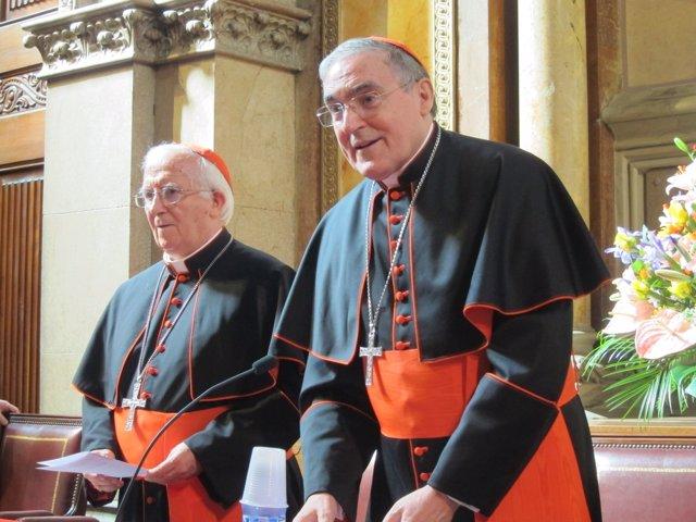 Los Cardenales Lluís Martínez Sistach Y Antonio M.Cañizares