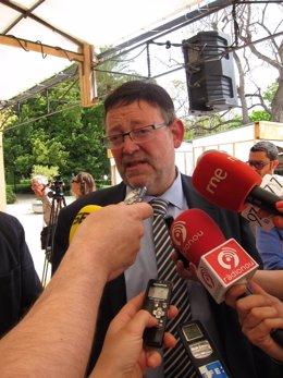 Ximo Puig, En Declaraciones A Los Periodistas en imagen de archivo