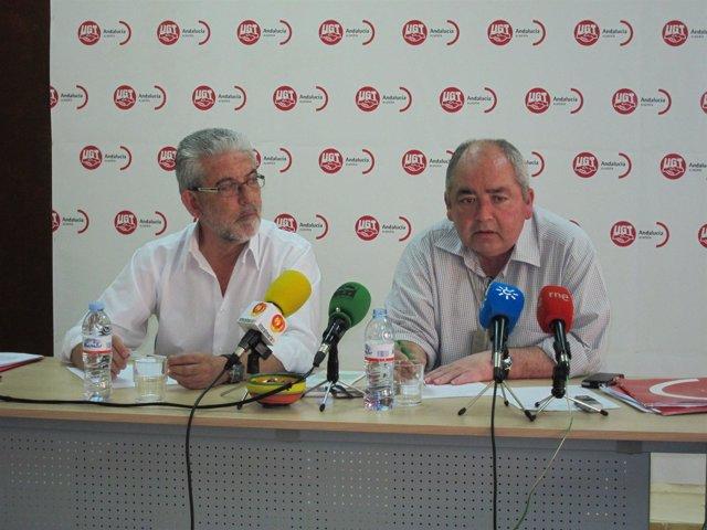 El Secretario De UGT-A, Manuel Pastrana, En Rueda De Prensa En Almería