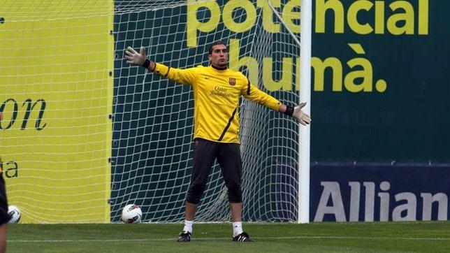 José Manuel Pinto, Portero Del FC Barcelona