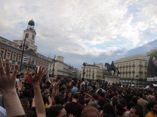 Manifestación 15M En Sol