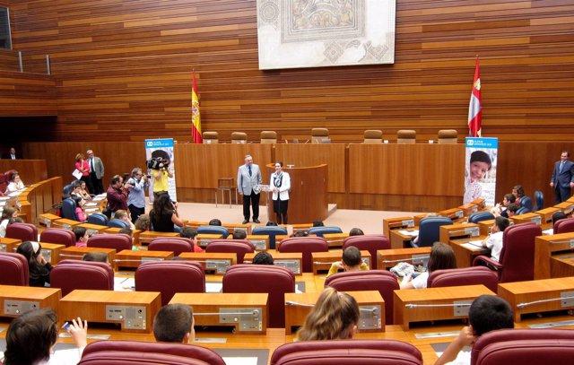 Pleno Infantil En Las Cortes De Castilla Y León.