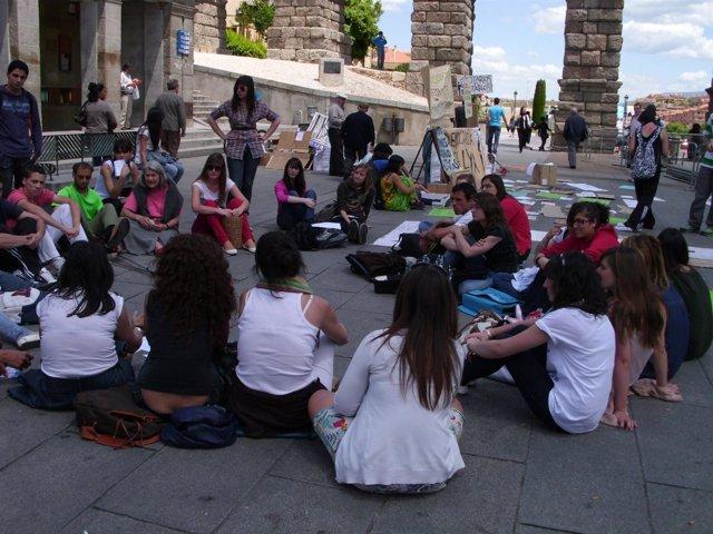 Reunión Del 15M En Segovia