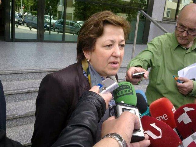 Pilar Farjas Haciendo Declaraciones