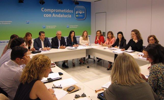 Javier Arenas Preside La Reunión Sobre Políticas Sociales