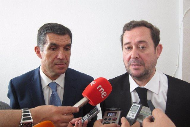 El Presidente Del TSJA, Lorenzo Del Río, Y El De La Audiencia De Huelva, Antonio