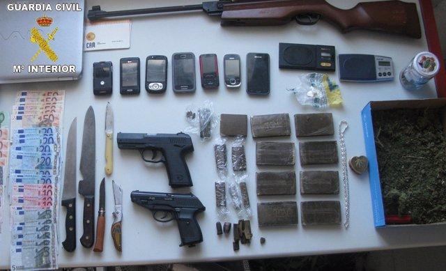 Objetos Intervenidos En La Operación San Jacobo