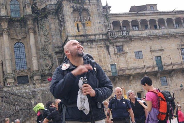 Antonio Asensio Llega A Santiago De Compostela