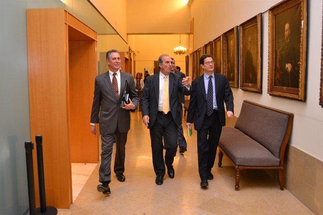 Joaquim Gay De Montellà Con Representantes Del Gobierno De Estados Unidos