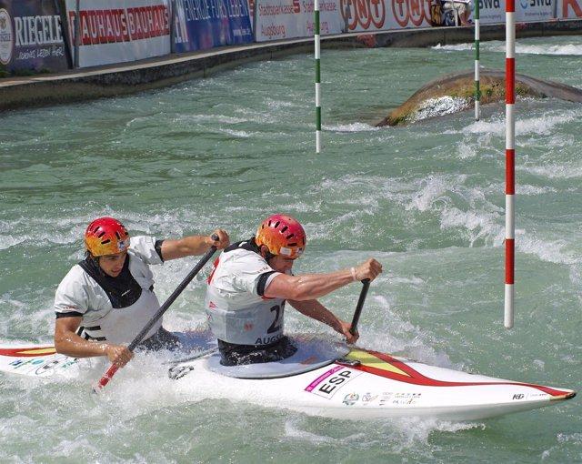 Dani Marzo Y Jesús Pérez En El Europeo De Slalom De Augsburgo