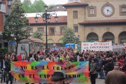 15M.- Arranca en Oviedo la manifestación de los 'indignados' asturianos