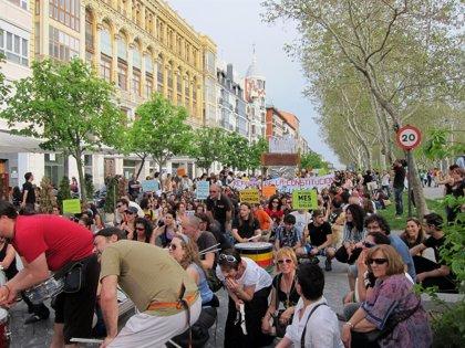 Miles de 'indignados' se manifiestan en Valladolid para conmemorar el aniversario del movimiento