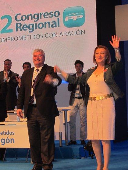 Rudi reelegida presidenta del PP-Aragón con el 90,51% de los votos
