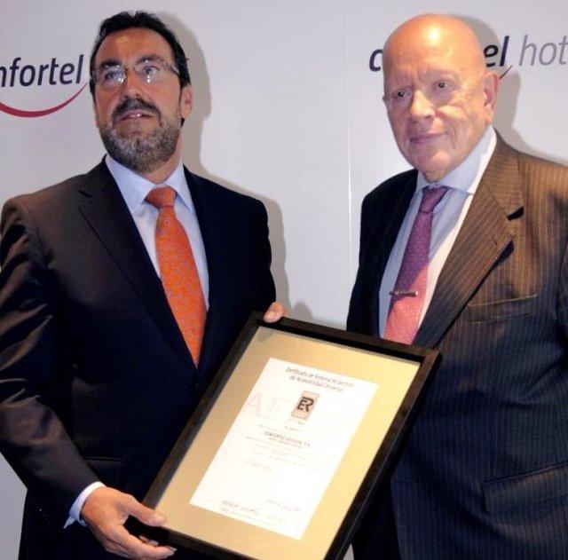 Confortel Hoteles Obtiene El Certificado AENOR De Accesibilidad Universal