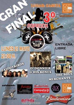 Cartel De La Final Del III Concurso Pop-Rock De Grupos Cordobeses 'Directos 37'