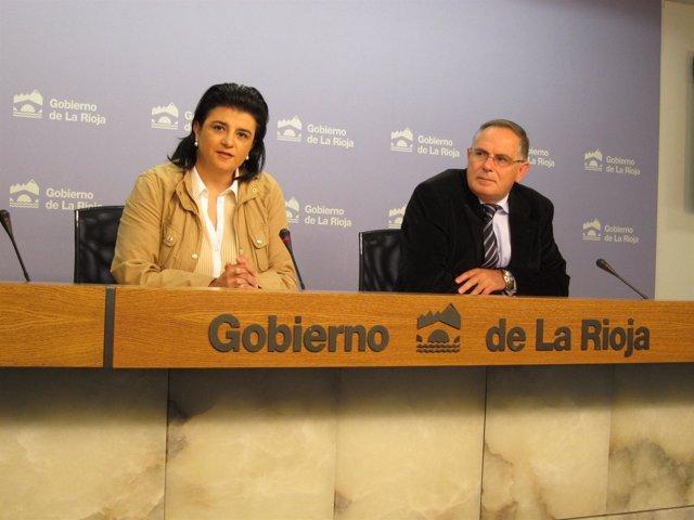 Concepción Arruga, Consejero De Hacienda Y Fco Rojas, Director Oficina Presupues