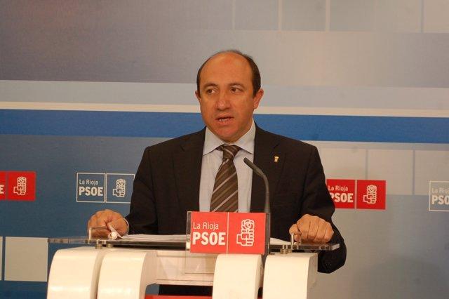Vicente Urquía, Secretario De Politíca Económica Del PSOE Riojano