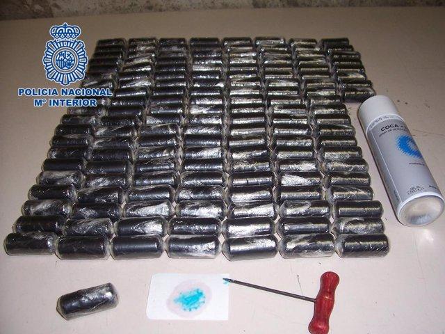 Un Kilogramo De Cocaína Intervenida A Los Detenidos